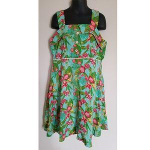 435 Matilda Jane Lovely Luau Floral Print Dress